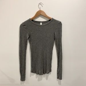 BP Long Sleeve Grey Top size Small